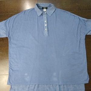 BDG   Short Sleeve Blue Stylish Polo Shirt